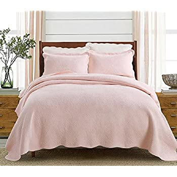 Rose Quilted Bedspread Pink: Amazon.co.uk: Kitchen & Home : pink quilted bedspread - Adamdwight.com