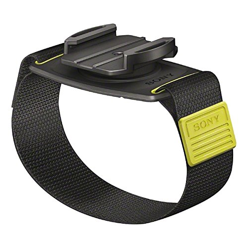 Sony AKA-WM1 Handgelenkband (Halterung mit Armband, 360 Grad drehbar, geeignet für Action Cam FDR-X3000, FDR-X1000, HDR-AS300, HDR-AS200, HDR-AS50) schwarz