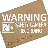 1x telecamera di sicurezza riscaldamento recording- 200mm-finestra stickers-vehicle sicurezza Dash Cam signs-cctv, per auto, furgoni, camion, taxi, mini Cab, bus, Coach, go Pro