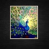 baodanla (Senza Cornice) Wall Art colorato Pavone Decorazione Domestica Moderna 45X60cm