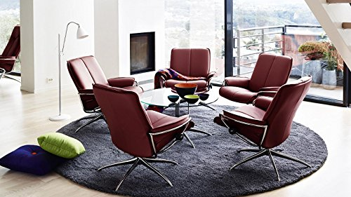 Stressless® City Sessel mit Hocker (M) Low back Rot günstig - 2