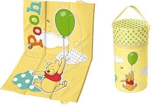 Preisvergleich Produktbild 2er Set Reise - Wickelauflage + Warmhaltebox XXL Winnie Pooh gelb