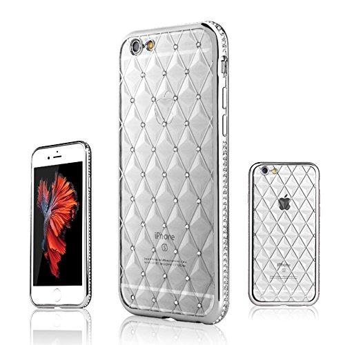 3a00522766a Coque Silicone iPhone 6 6s Rhinestone   SHENGO Rhombus Rhinestone TPU Case  Cover for iPhone 6
