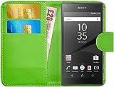 G-Shield Hülle für Sony Xperia Z5 Compact Klapphülle mit Kartenfach - Grün