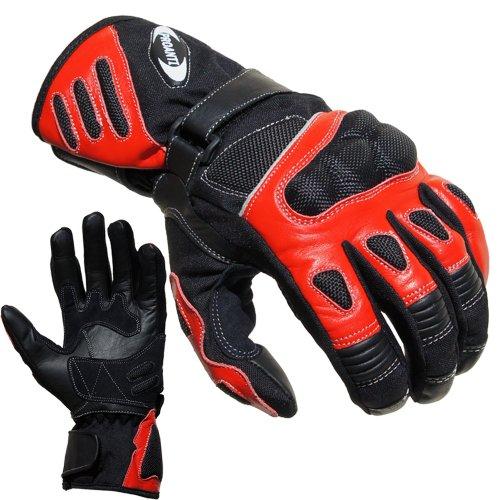 Motorradhandschuhe Summer PROANTI® Motorrad Handschuhe (Gr. M - XXL, Rot)