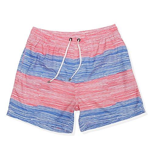Vêtements Hommes Quick Dry Plage De Sable Rafting Surf Imperméable Doublée Swim Trunk Deux Options De Couleur B