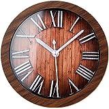 GAOHL Reloj de mesita reloj madera digital 3D creativos , brown