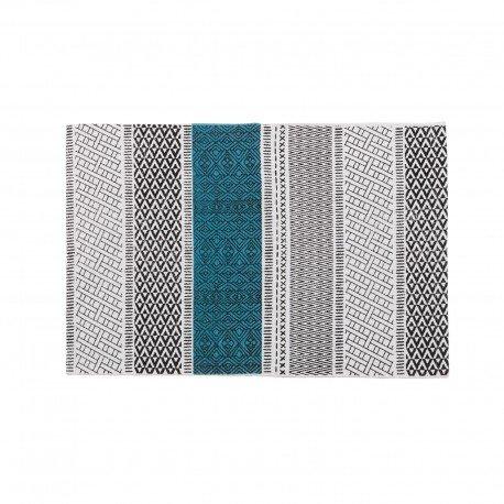 Tappeto motivi etnici blu 60x 90cm