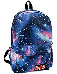 TOOGOO(R) Women Floral Vogue Backpack Lady Travel Canvas Totes Shoulder Bag New Blue