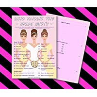 Hen Night Party Games- .•:*¨ WHO KNOWS THE BRIDE BEST ¨*:•.