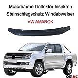 Motorhaube Deflektor Insekten und Steinschlagschutz Windabweiser VW AMAROK