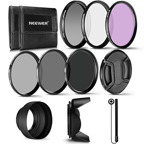 Neewer 55  Professional UV CPL FLD filtro e filtro neutro ND Kit accessori per Sony A37 A55 A57 A65 A77 A100