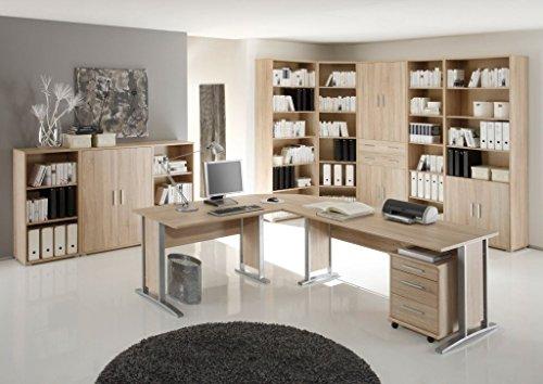 Stella Trading Office Line Winkelkombinantion, Holzdekor, Sonoma, 220 x 170 x 72 cm - 2