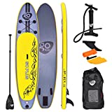 Best Inflatable Paddle Boards - COSTWAY 11FT SUP Inflatable Surfing Board Soft Surf Review