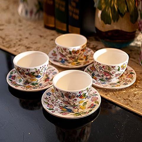 qwer Stile Europeo mano classica verniciato colorato potters 8 pezzo creative home Vassoio tazze kit unità uccelli , bastoni Lam tazze°set da 8 pezzi