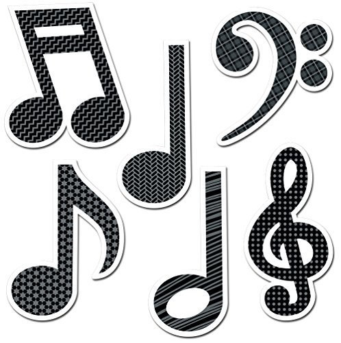 Creative Teaching Press 6-Inch Designer Cut-Outs, Music Symbols (4879)