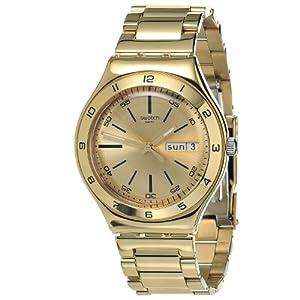 Reloj Swatch Yellow Medal YGG706G de cuarzo unisex con correa de acero inoxidable, color dorado de Swatch