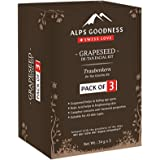Alps Goodness Grapeseed De-Tan Facial Kit - Pack of 3 (34 g x 3) - Helps Fade Age Spots & Sun Damage, Imparts Skin Brightness