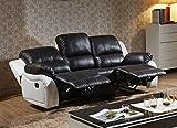 Voll-Leder Fernsehsessel Couch Sofa-Garnitur Relaxsessel Polstermöbel 5129-3-SW