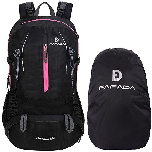 Fafada 40l 35l 25l impermeabile zaini da escursionismo zaino di campeggio viaggi hiking trekking camping backpack (35l nero)