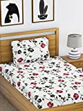 Ahmedabad Cotton Comfort 160 TC Cotton Single Bedsheet with 1 Pillow Cover, Multicolour
