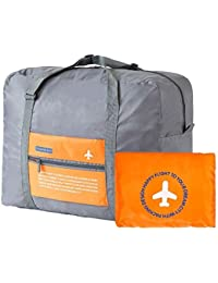 Harikrishnavilla Waterproof Polyester Foldable and Reusable Orange Travel Bag