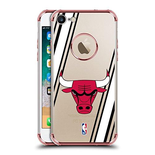 Ufficiale NBA Strisce Chicago Bulls 2 Rosa Una Barriera A Prova di Urto Case per iPhone 7 / iPhone 8