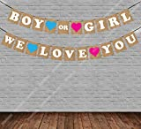 """Party Propz """"Boy or Girl We Love You"""" Baby Shower String Banner (Multicolour)"""