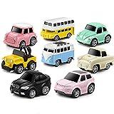 GEYIIE autos zum spielen autos ab 3 jahre für jungen geschenkset auto spielzeug kinder Legierung Fahrzeuge Set Mini Car Modell Bau und Rennen Trucks für Kleinkinder Geschenk 8 Autos