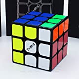 QiYi *The VALK 3* - 3X3 Professional & Competition SpeedCube Brain Game Puzzle by Cubik's - BLACK immagine