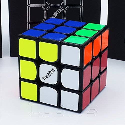 THE VALK 3 - Qiyi MoFangGe Professional 3x3 Speed Cube Rubik's Cube Brain Game Puzzle - BLACK