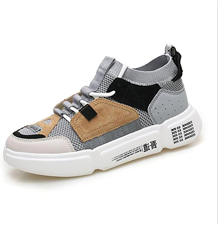 Herrenschuhe stricken Fruumlhling Herbst Low Top Sneakers atmungsaktiv Komfort Sportschuhe Outdoor Persönlichkeit