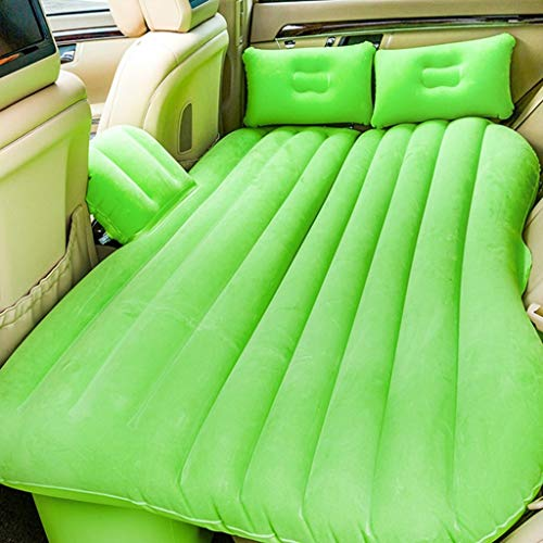 DKSJS Auto Rücksitzabdeckung Auto Luftmatratze Reisebett Aufblasbare Matratze Luftbett Gute Qualität Aufblasbare Auto Bett Auto Matratze (Farbe : Green)