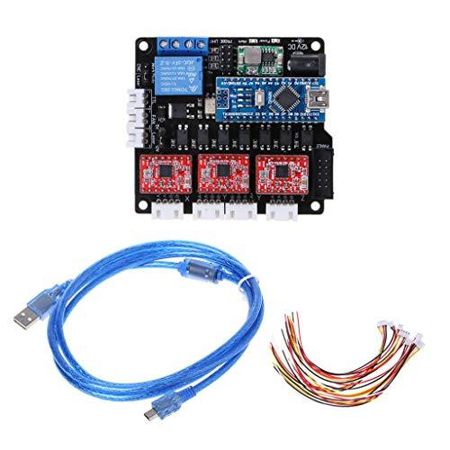 LANDUM GRBL Laser Controller Board CNC-USB-3-Schrittmotor-Controller-Controller -