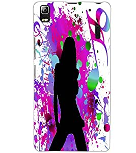 LENOVO A7000 PLUS MUSIC GIRL Back Cover by PRINTSWAG