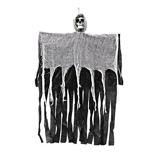 Aprigy - 100cm Halloween Hanging Geist Spuk Haus Hanging Grim Reaper Horror Props Tür Bar Club Halloween-Dekorationen (Grim Reaper Prop)