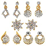 Om Jewells Crystals Stones Stud Earrings...