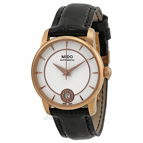 Mido by Baron Automatic Silver Dial Black Leather Ladies Watch M0072073603600
