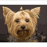 CYKEJISD Puzzle 1000 Pezzi Puzzle 3D Animali Cane Carino con Trecce Immagine Wall Art Home Decor 75X50Cm