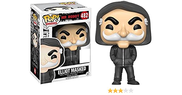 f2aa0d4c693 Funko 9879 - Mr. Robot Pop Vinyl Figure 482 Elliot Masked SDCC Summer  Convention Exclusives  Amazon.co.uk  Toys   Games