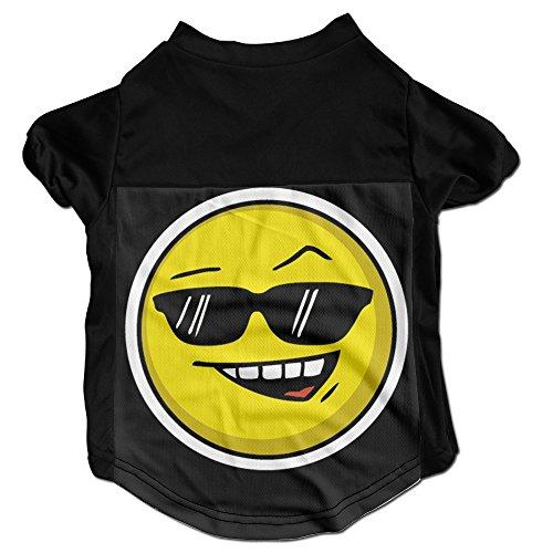 xj-cool-cool-smiley-graphic-haustiere-t-shirt-fr-kleine-welpen-schwarz