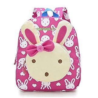Moolecole Cute Bunny Kids Nursery Canvas Backpack Bolsa de escuela preescolar Bookbag de niños pequeños