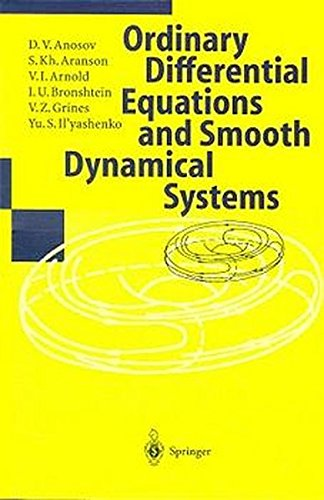 Dynamical Systems I: Ordinary Differential Equations and Smooth Dynamical Systems (Problem Books in Mathematics) par D. V. Anosov
