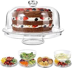 Maharaj Mall 3-in-1 Multifunction Acrylic Cake Stand