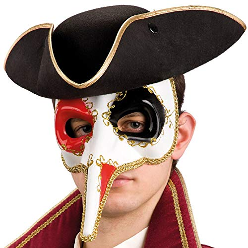 g Nose Venetian Carnival Eye Mask Masquerade Ball Mardi Gras Fancy Dress Costume Outfit Accessory ()