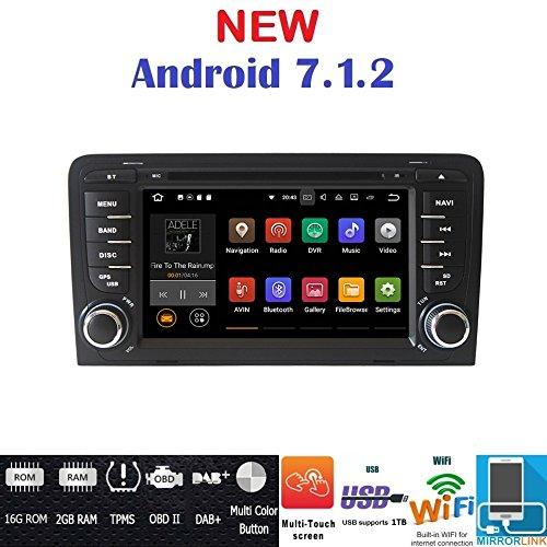 7.1Android GPS DVD USB SD Wi-Fi Bluetooth Autoradio 2DIN GPS Audi A3/Audi S32002, 2003, 2004, 2005, 2006, 2007, 2008, 2009, 2010, 2011