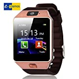 eCosmos TM Bluetooth Smart Watch with Sim Card Slot and Camera-Golden