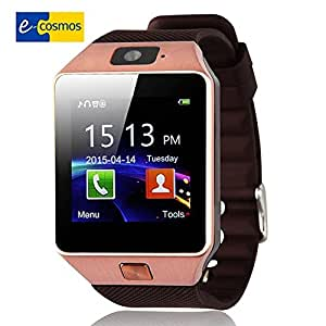E-Cosmos Bluetooth Smart Watch Wrist Watch Phone with Camera, samsung S8 PlusCompatible