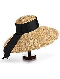 GSAYDNEE Sombrero de Paja de ala Ancha Tejido a Mano Shade Beach Hat para  Mujeres ( 2d4c38ddc95