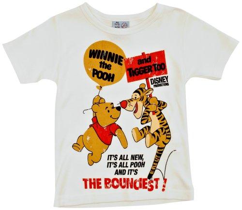 LOGOSHIRT - Winnie the Pooh T-Shirt Kinder - Disney - Tigger Too - altweiß - Lizenziertes Originaldesign, Größe 122/134, 7-9 Jahre